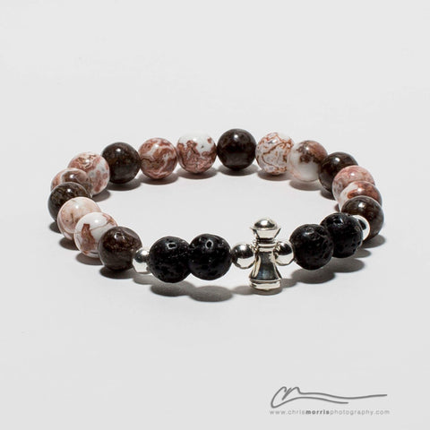 Brown Rank Bracelet by NxS Design