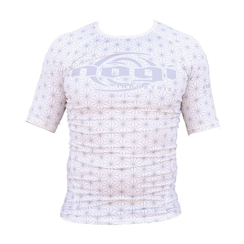 NoGi Industries Spectral Short Sleeve Rashguard - White (SS) - Budovideos