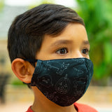 Defender PRO Antibacterial Mask (cats, pumpkins, ghosts) includes 3 N95 Filters - Made in USA