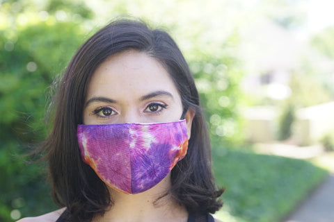 Defender PRO Antibacterial Mask (Thai Dye Clinch) includes 3 N95 Filters - Made in USA - Budovideos