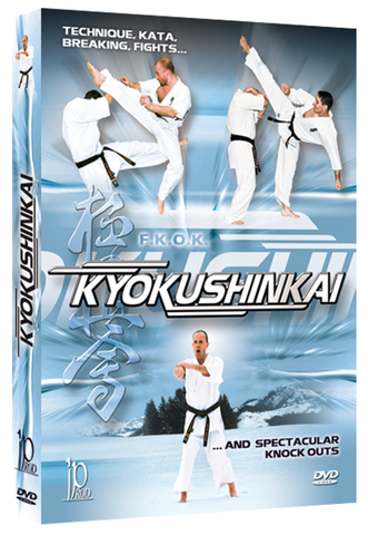 Kyokushinkai Karate Technique, Kata, Breaking, Fights and Spectacular Knock Outs DVD By Bertrand Kron - Budovideos Inc