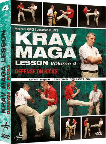 Krav Maga Lesson Vol 4 Defense on Kicks DVD By Vincenzo Quici & Jonathan Dejace - Budovideos Inc