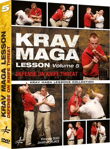 Krav Maga Lesson Vol 5 - Knife Defense DVD by Vincenzo Quici & Jonathan Dejace - Budovideos Inc