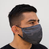 Defender PRO Antibacterial Mask (Electro Camo) includes 3 N95 Filters - Made in USA