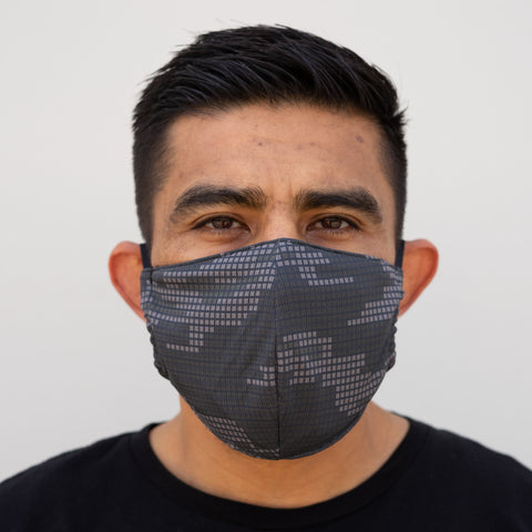 Defender PRO Antibacterial Mask (Electro Camo) includes 3 N95 Filters - Made in USA - Budovideos