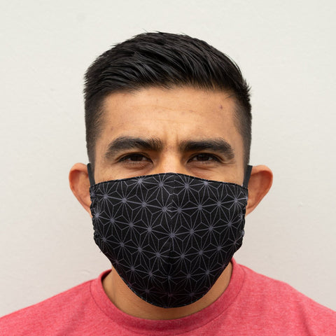 Defender PRO Antibacterial Mask (Spectral Black) includes 3 N95 Filters - Made in USA - Budovideos
