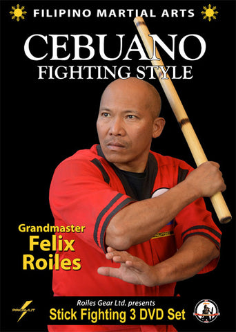 Filipino Cebuano Stick Fighting 3 DVD Set (Vol 4-6) with Felix Roiles - Budovideos