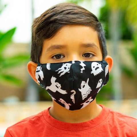 Defender PRO Antibacterial Mask (Ghosts) includes 3 N95 Filters - Made in USA
