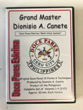 Doce Pares Eskrima 4 DVD Set by Dionisio Canete (Preowned)