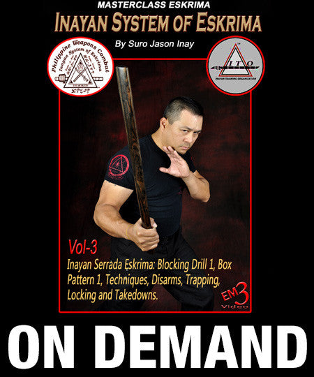 Inayan System of Eskrima Vol 3 with Jason Inay (On Demand) - Budovideos
