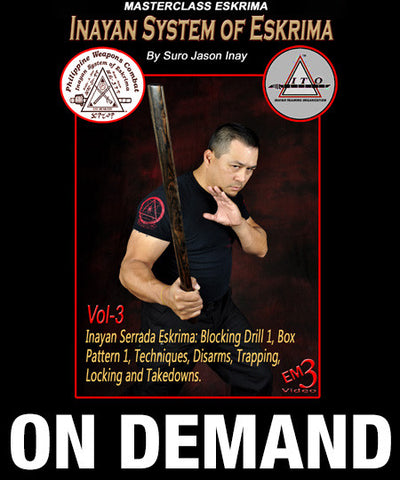 Inayan System of Eskrima Vol 3 with Jason Inay (On Demand)
