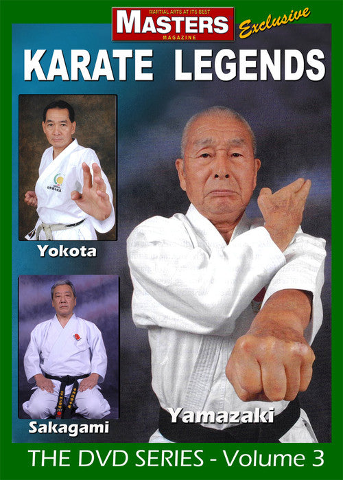 Karate Legends DVD with Yamazaki, Yokota & Sakagami - Budovideos