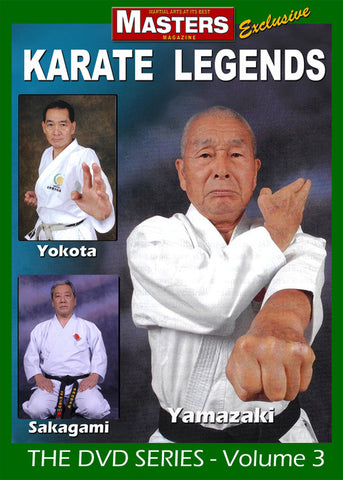 Karate Legends DVD with Yamazaki, Yokota & Sakagami