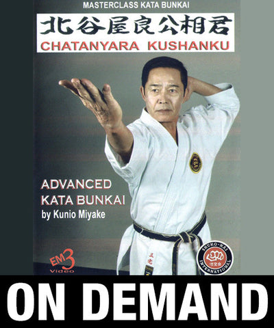 Karate Shito Ryu Kata Vol 6 Chatanyara Kushanku by Kunio Miyake (On Demand)