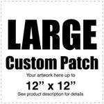 "Custom Full Color Canvas Patch – White – Large - 12"" x 12"""