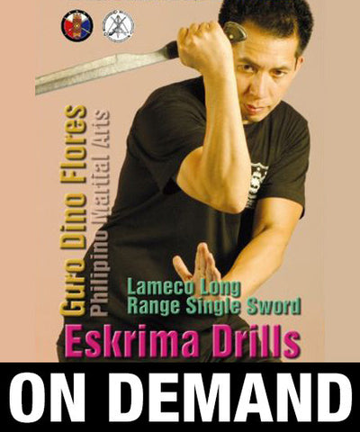 Lameco Eskrima Single Sword by Dino Flores (On Demand) - Budovideos