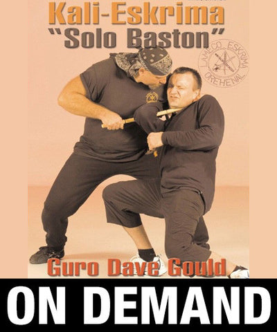 Lameco Eskrima Solo-Bastón Single Stick by Dave Gould (On Demand) - Budovideos