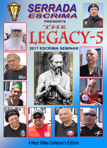 Serrada Escrima Legacy Seminar 5 (Queen Mary 2017) 4 DVD Set