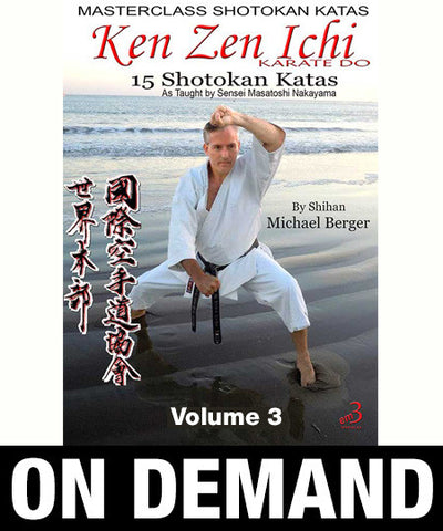Masterclass Shotokan Katas Vol 3 by Michael Berger (On Demand)