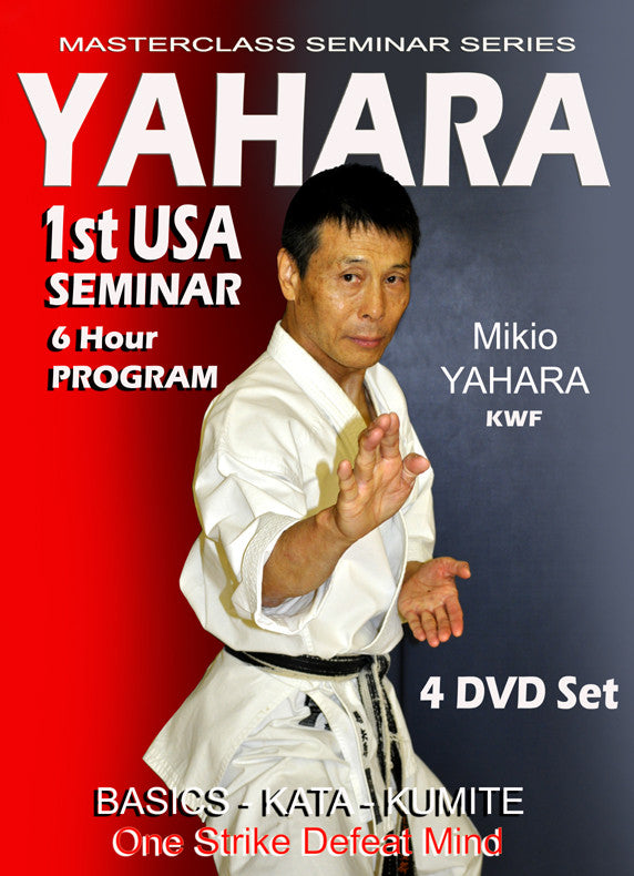 Mikio Yahara 1st USA Karate Seminar 4 DVD Set
