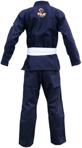 Back - Kid's Navy All Around BJJ Gi by Fuji