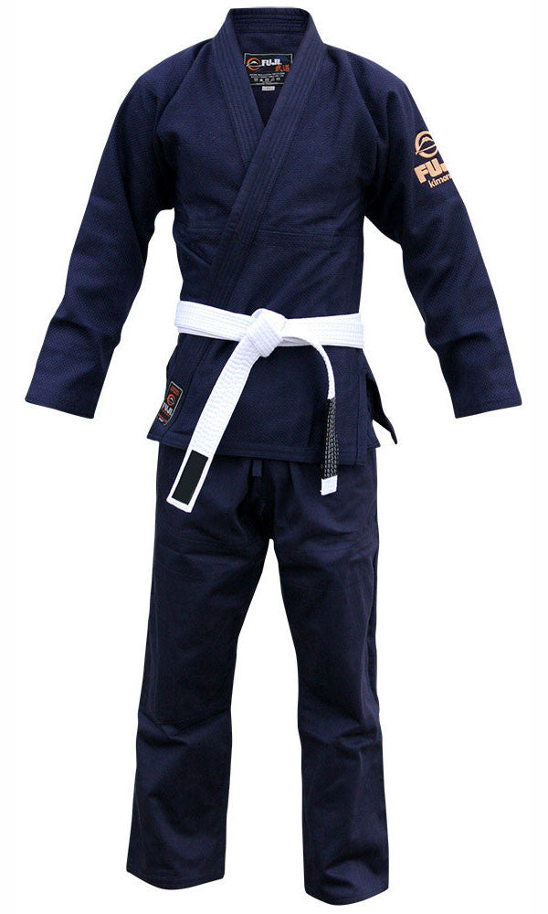 Front - Kid's Navy All Around BJJ Gi by Fuji