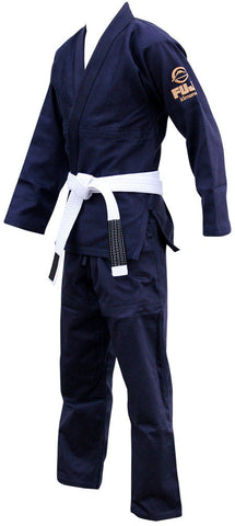Left - Kid's Navy All Around BJJ Gi by Fuji