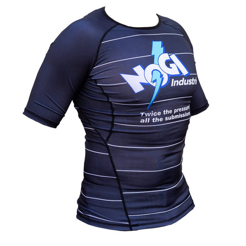 Energy Rash Guard by Nogi Industries Short Sleeve - BLACK - Budovideos