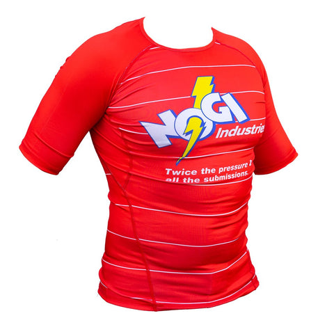 Energy Rash Guard by Nogi Industries Short Sleeve - RED - Budovideos
