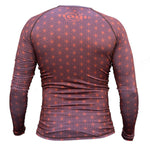 Spectral Long Sleeve Rank Rashguard - Blue, Purple or Brown (LS) - Budovideos