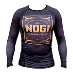 Tyme Rash Guard by Nogi Industries Long Sleeve - BLACK - Budovideos
