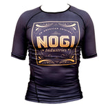 Tyme Rash Guard by Nogi Industries Short Sleeve - BLACK - Budovideos