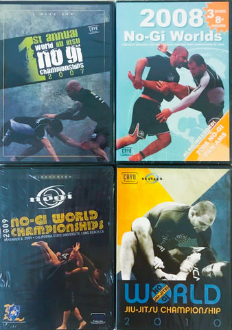 2007 to 2010 Nogi Worlds DVD collection