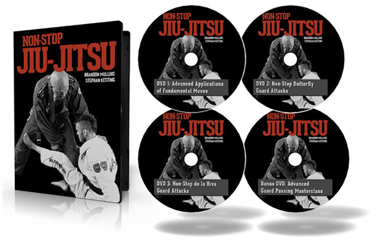 Cover - Non-Stop Jiu-Jitsu 4 DVD set by Stephan Kesting & Brandon Mullins