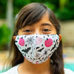 Defender PRO Antibacterial Mask (Pink Pumpkins) includes 3 N95 Filters - Made in USA