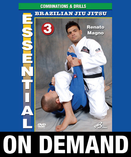 Essential Brazilian Jiu Jitsu Volume 3: Combinations & Drills by Renato Magno (On Demand) - Budovideos