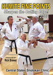 Karate Kumite Fine Points Clinic 2019 DVD by Rick Brewer - Budovideos
