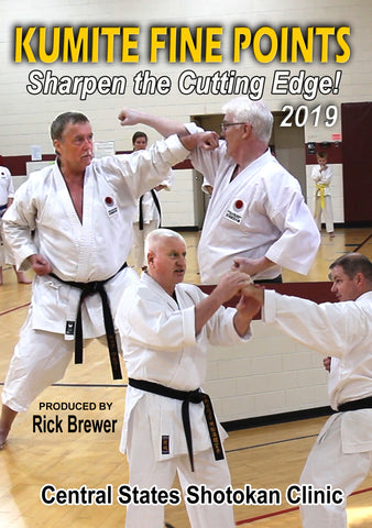 Karate Kumite Fine Points Clinic 2019 DVD by Rick Brewer