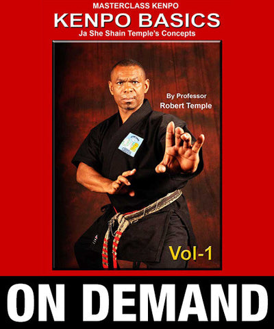 Masterclass Kenpo Volume 1 Kenpo Basics by Robert Temple (On Demand) - Budovideos