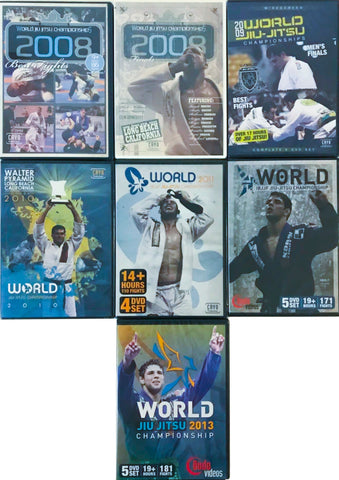 2008-2013 BJJ World Championship Collectors DVD Set - Budovideos