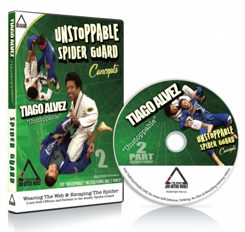 Unstoppable Spider Guard DVD with Tiago Alves - Budovideos