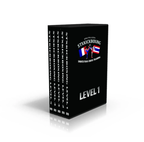 STXKICKBOXING Levels 1 - 5 (5 DVD Set) by Erik Paulson - Budovideos