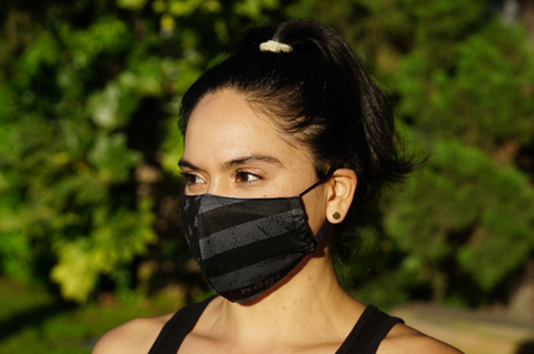 Defender PRO Antibacterial Mask (No Quarter) includes 3 N95 Filters - Made in USA - Budovideos