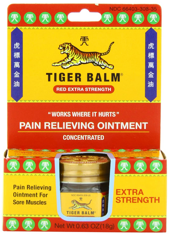 Tiger Balm Extra Strength Pain Relief 0.63 oz (Red Jar) - Budovideos