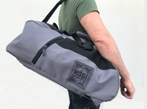 Nogi Tyme 3 Way Convertible Large Gear Bag - GRAY OR BLACK - Budovideos