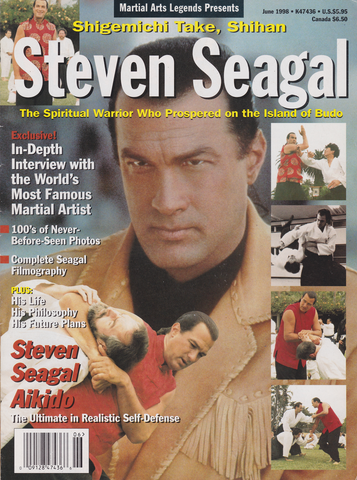 Martial Arts Legends Presents Steven Seagal Magazine (Preowned) - Budovideos
