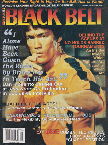 Black Belt Magazine Jan 1997 with Bruce Lee (Preowned) - Budovideos