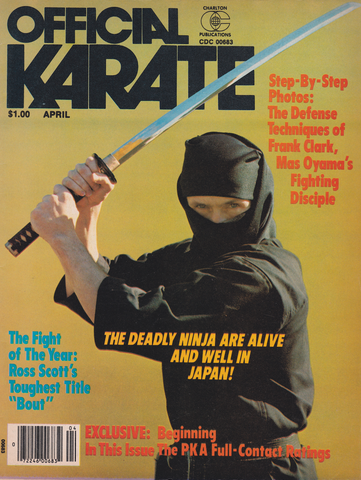 Official Karate April 1979 Magazine (Preowned) - Budovideos Inc