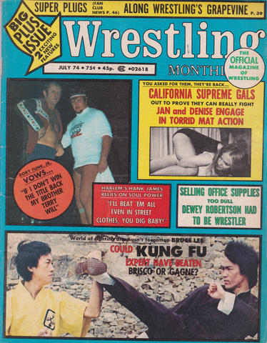 Wrestling Monthly July 1974 Magazine (Preowned) - Budovideos Inc