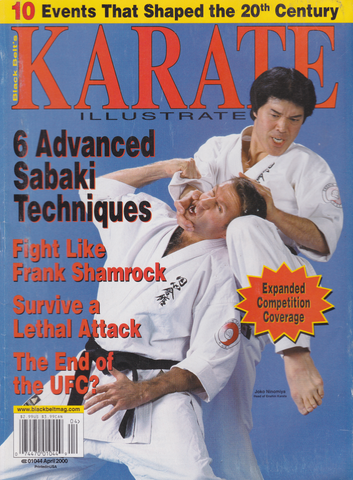 Karate Illustrated April 2000 Magazine (Preowned) - Budovideos Inc